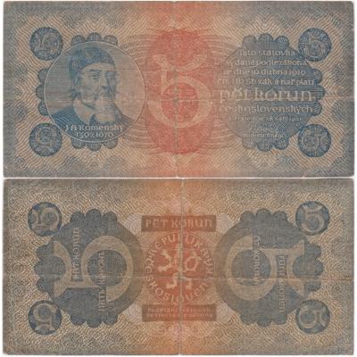 5 korun 1921, série 5