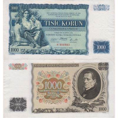 1000 korun 1934, série N, neperforovaná