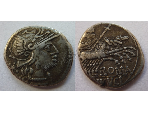 Římská republika - stříbrný denár L. Minucius, 133 př. n.l..