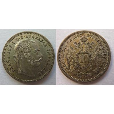10 krejcarů 1872