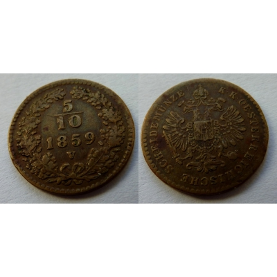 5/10 Kreuzer 1859 V