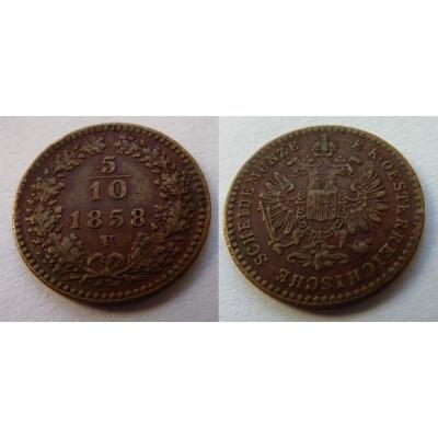 5/10 krejcaru 1858 V