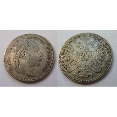 20 krejcarů 1870