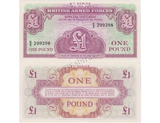 Velká Británie - vojenská poukázka 1 libra 1962 aUNC
