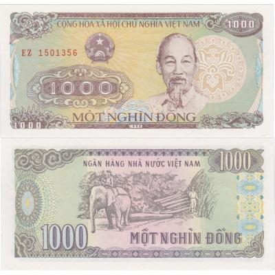Vietnam - bankovka 1000 dong 1988 UNC