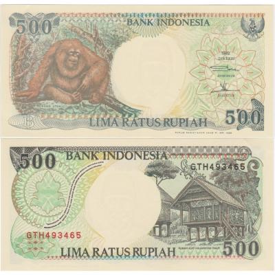 Indonésie - bankovka 500 lima ratus rupiah 1992 aUNC