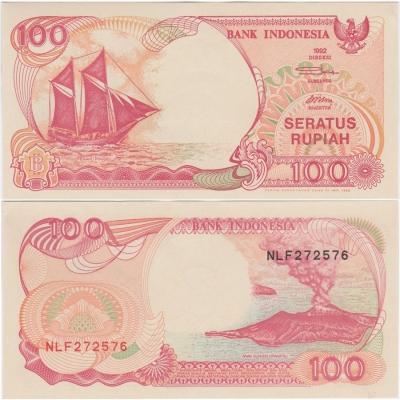 Indonésie - bankovka 100 rupiah 1992 aUNC