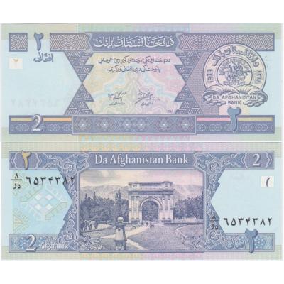 Afghánistán - bankovka 2 afghanis 2002 UNC