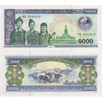 Laos - bankovka 1000 kip 1996 aUNC