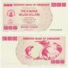 Zimbabwe - bearer cheque 500 000 000 dollars 2008 UNC
