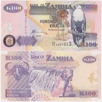 Zambie - bankovka 100 kwacha 2011 UNC