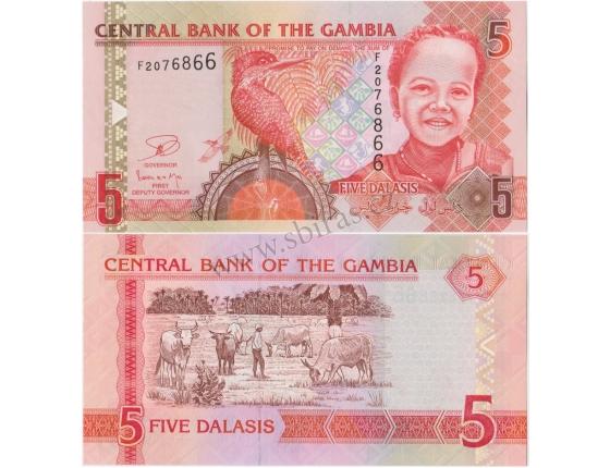 Gambie - bankovka 5 dalasis 2006 UNC