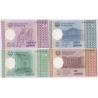 Tádžikistán - sada bankovek 1, 5, 20, 50 dirams 1999 UNC