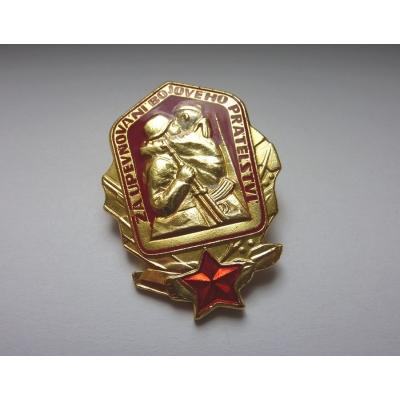 Za upevňování bojového přátelství odznak připínací