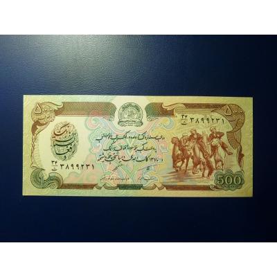 Afghánistán - bankovka 500 afghanis 1991