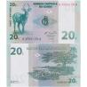 Kongo - bankovka 20 centimes 1997 UNC