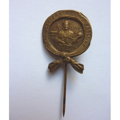 Czechoslovakia - Badge 600 years since the founding of Charles University in 1948