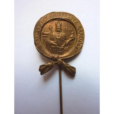 Tschechoslowakei - Badge 600 Jahre seit der Gründung der Karls-Universität im Jahr 1948