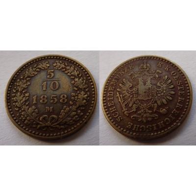 5/10 Kreuzer 1858 M