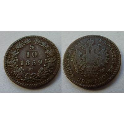 5/10 Kreuzer 1859 M