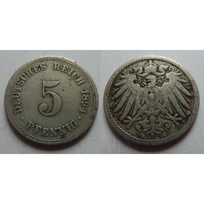 Německé císařství - 5 Pfennig 1894 A