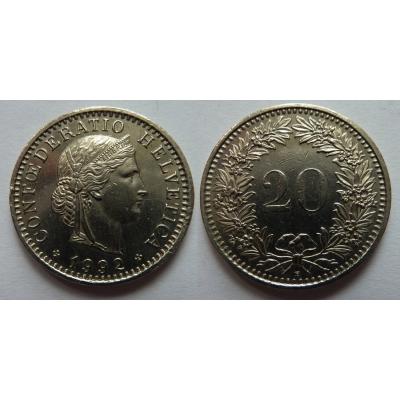 Schweiz - 20 Rappen 1992