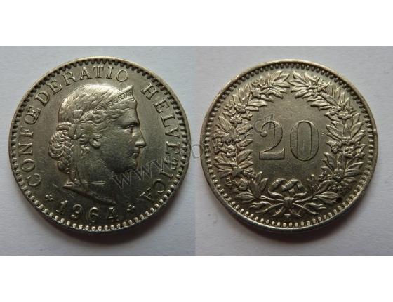 Switzerland - 20 centimes 1964