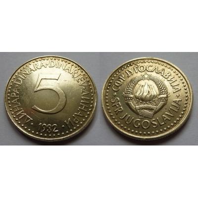 Jugoslávie - 5 dinara 1982