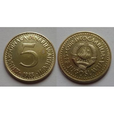 Jugoslávie - 5 dinara 1983