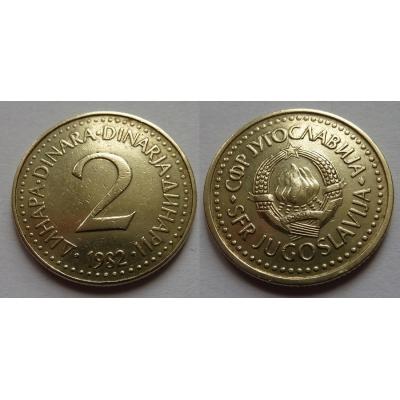 Jugoslávie - 2 dinara 1982