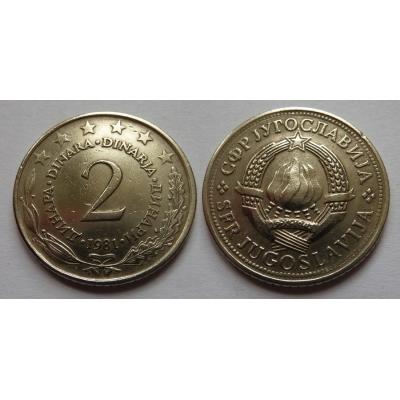 Jugoslávie - 2 dinara 1981