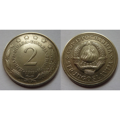 Jugoslávie - 2 dinara 1977