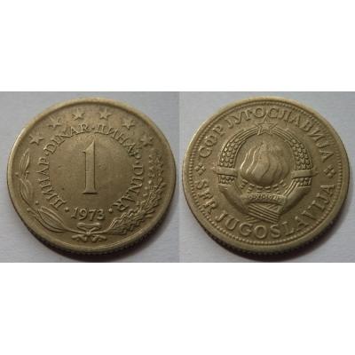 Jugoslávie - 1 dinar 1973