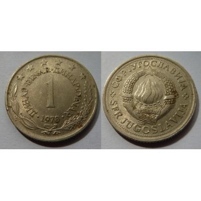 Jugoslávie - 1 dinar 1978