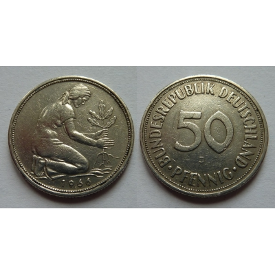 Západní Německo - 50 Pfennig 1966 J