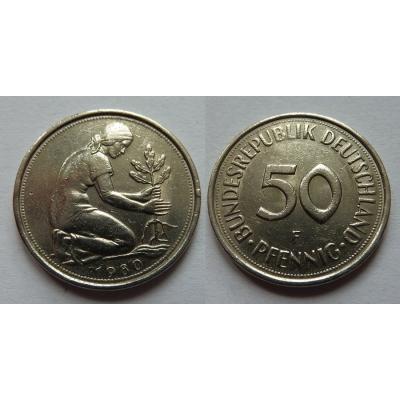 Německo - 50 Pfennig 1980 F