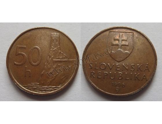 Slovensko - 50 haléřů 1996