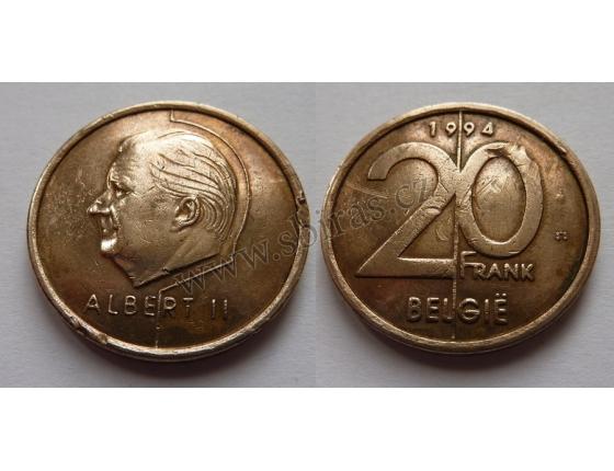 Belgie - 20 frank 1994