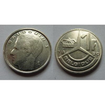 Belgie - 1 frank 1990