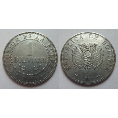 Bolívie - 1 boliviano 2001
