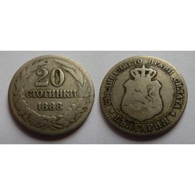 Bulharsko - 20 stotinki 1888