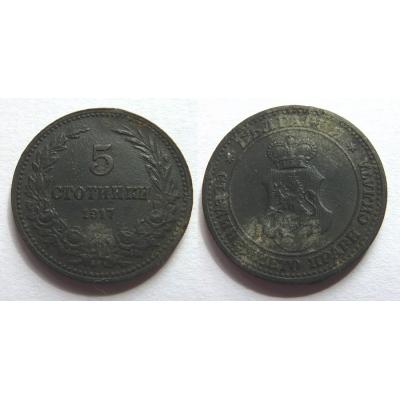 Bulharsko - 5 stotinki 1917