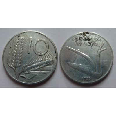 Itálie - 10 lire 1955