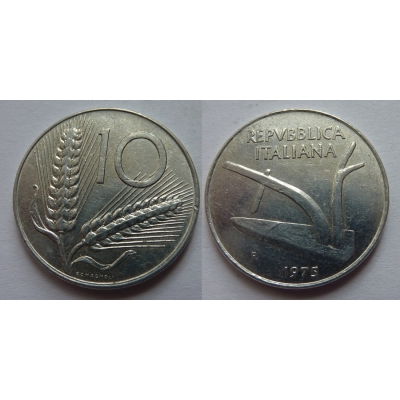 Itálie - 10 lire 1975