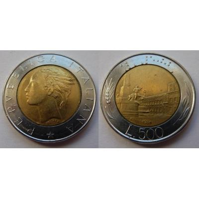 Itálie - 500 lire 1984