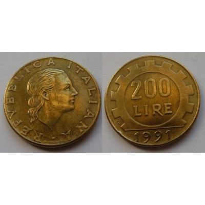 Itálie - 200 lire 1991