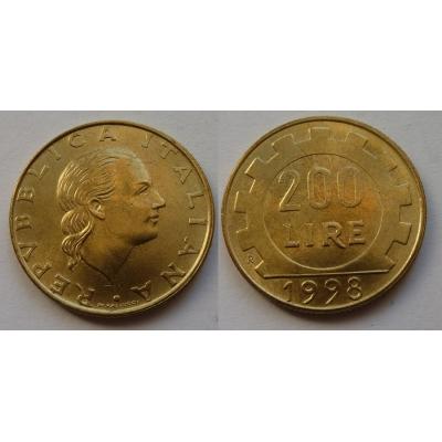 Itálie - 200 lire 1998