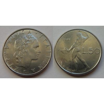 Itálie - 50 lire 1981