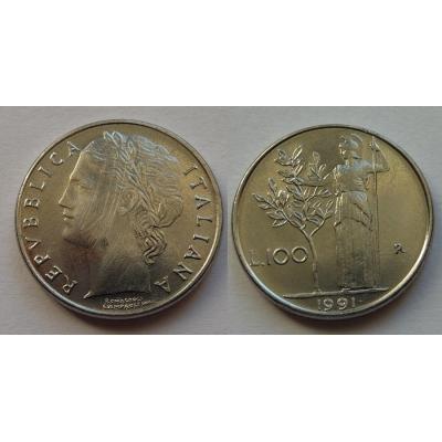 Itálie - 100 lire 1991