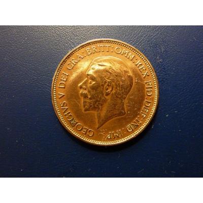 Velká Británie - mince 1 penny 1936